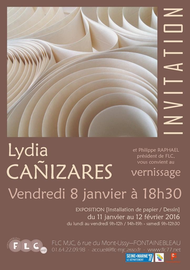 Invitation vernissage exposition personnelle de Lydia Canizares