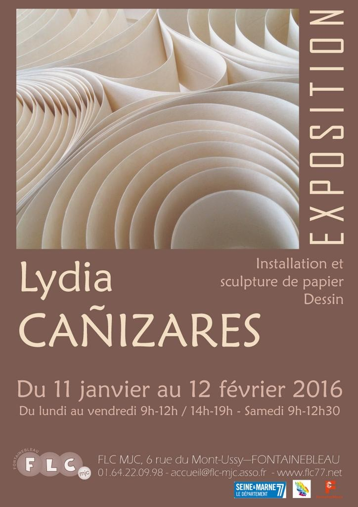 Affiche Exposition FLC 2016 Lydia Canizares