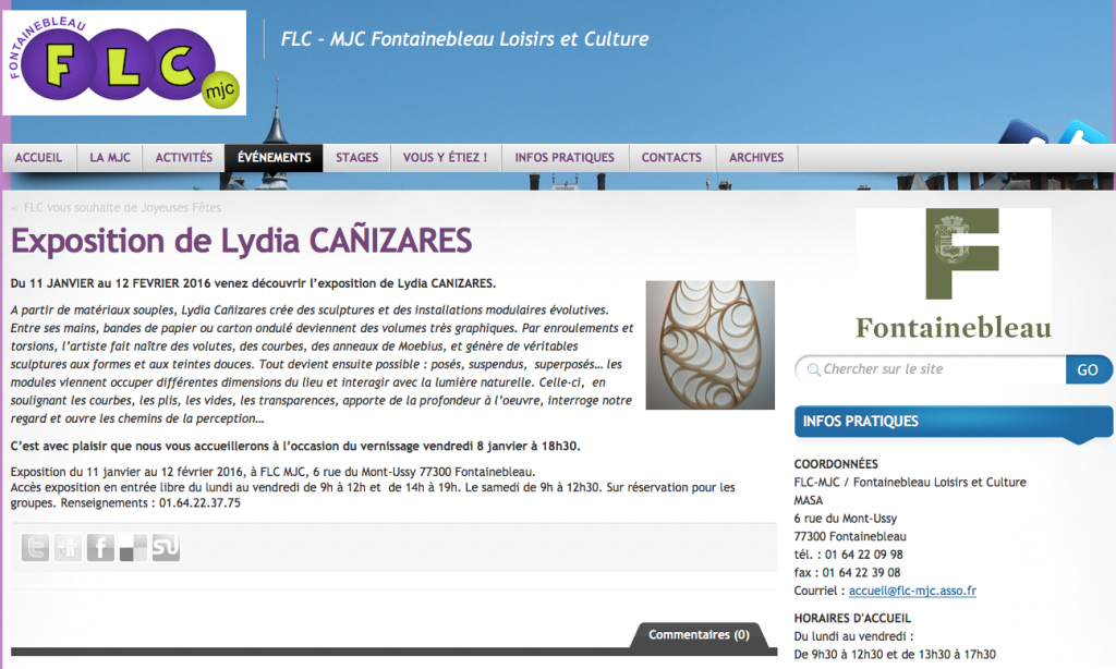 20151223 FLC annonce site - Lydia Canizares